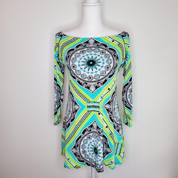 Eva Varro long green tunic medium like new!